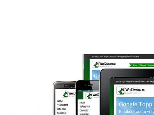 Mobilvänlig Webbsida